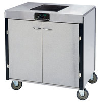 Lakeside 2060 Creation Express Mobile Stainless Steel Cooking Cart with 1 Induction Burner and No Exhaust Filtration - 22 inch x 34 inch x 35 1/2 inch