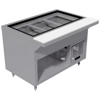 Advance Tabco HDRCP-4-BS Stainless Steel Heavy-Duty Four Well Refrigerated Cold Table with Enclosed Base
