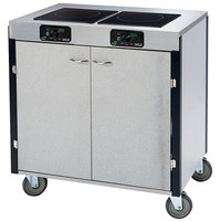 Lakeside 2070 Creation Express Mobile Stainless Steel Cooking Cart with 2 Induction Burners and No Exhaust Filtration - 22 inch x 34 inch x 35 1/2 inch