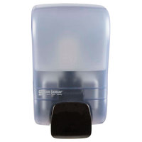 San Jamar SF900TBL Rely Arctic Blue Manual Foam Soap Dispenser - 5 inch x 4 inch x 8 1/2 inch
