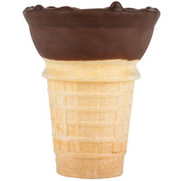 Joy 12 Count Chocolatey Dipped Cake Ice Cream Cones   - 10/Case