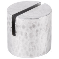 American Metalcraft HCHD1 7/8 inch Round Hammered Aluminum Card Holder