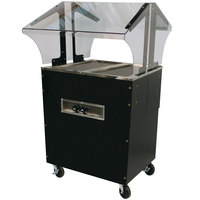 Advance Tabco B2-120-B-SB Enclosed Base Everyday Buffet Stainless Steel Two Pan Electric Hot Food Table - Open Well, 120V