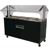 Advance Tabco B4-120-B-SB Enclosed Base Everyday Buffet Stainless Steel Four Pan Electric Hot Food Table - Open Well, 120V