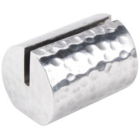 American Metalcraft HCHL1 1 1/4 inch Cylinder Hammered Aluminum Card Holder