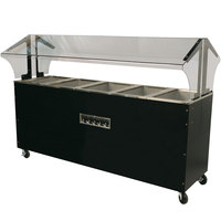 Advance Tabco B5-240-B-SB Enclosed Base Everyday Buffet Stainless Steel Five Pan Electric Hot Food Table - Open Well, 208/240V
