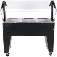 Advance Tabco B3-240-B Open Base Everyday Buffet Stainless Steel Three Pan Electric Hot Food Table - Open Well, 208/240V