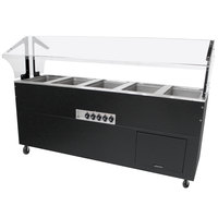 Advance Tabco BSW5-240-B-SB Enclosed Base Everyday Buffet Stainless Steel Five Pan Electric Hot Food Table - Sealed Well, 208/240V