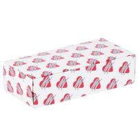 7 1/8 inch x 3 3/8 inch x 1 7/8 inch 1-Piece 1 lb. Heart Candy Box   - 250/Case