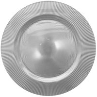 The Jay Companies 1470346 13 inch Round Sunray Silver Glass Charger Plate
