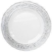The Jay Companies 1470321-SL 13 inch Round Arizona Silver/Clear Glass Charger Plate