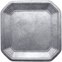 The Jay Companies 13 inch Ancient Square Silver Polypropylene Charger Plate