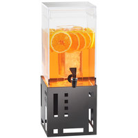 Cal-Mil 1602-1-13 1.5 Gallon Black Beverage Dispenser with Ice Chamber