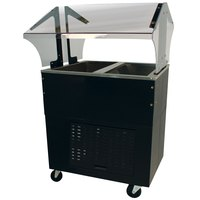 Advance Tabco BMACP2-B-SB Mechanically Assisted Two Well Everyday Buffet Cold Pan Table with Enclosed Base - Open Well