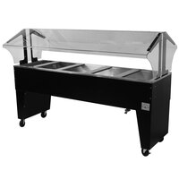 Advance Tabco B5-CPU-B Five Well Everyday Buffet Ice-Cooled Table with Open Base - Open Well