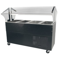 Advance Tabco BMACP4-B-SB Mechanically Assisted Four Well Everyday Buffet Cold Pan Table with Enclosed Base - Open Well