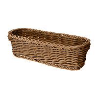 GET WB-1507-H 10 inch x 4 3/4 inch x 3 inch Designer Polyweave Honey Rectangular Basket - 12 / Case