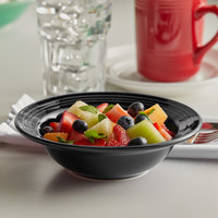 Tuxton CBD-066 Concentrix 9.5 oz. Black China Grapefruit Bowl - 24/Case