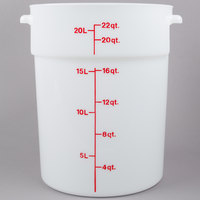 Cambro RFS22148 22 Qt Round White Food Storage Container