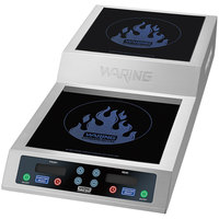 Waring WIH800 Double Commercial Induction Range with Step Up - 208/240V, 3600W