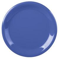 Carlisle 3300414 Sierrus 9 inch Ocean Blue Narrow Rim Melamine Plate - 24/Case
