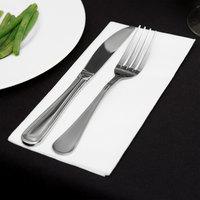 Touchstone by Choice White Linen-Feel 1/8 Fold Dinner Napkin - 300/Case