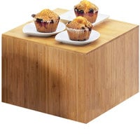 Cal-Mil 432-9-60 Bamboo Square Riser - 12 inch x 12 inch x 9 inch