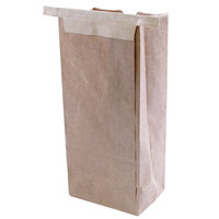 1/2 lb. Reclosable Brown Customizable Paper Coffee Bag with Tin Tie - 1000 / Case