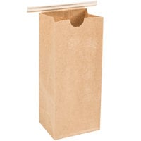 1/2 lb. Brown Kraft Customizable Paper Coffee Bag with Reclosable Tin Tie   - 1000/Case