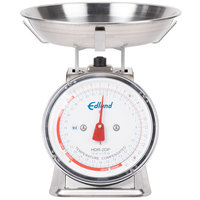Edlund HDR-2DPB 32 oz. Stainless Steel Portion Scale with 8 1/2 inch x 8 1/2 inch Platform and Bowl