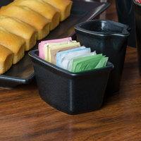 Hall China 44820AFCA Foundry Black China Sugar Caddy - 24/Case