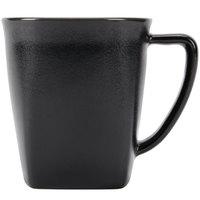 Hall China 44780AFCA Foundry 12 oz. Black Porcelain Mug - 24/Case