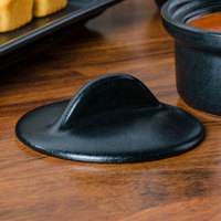 Hall China 4760CFCA Foundry Black China Cover for 4760BFCA 12 oz. Onion Soup Bowl - 12/Case
