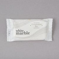 Dial DW06009-A White Marble Basics Complexion Soap 0.388 oz.   - 1000/Case