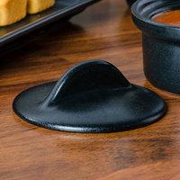 Hall China 630CFCA Foundry Black China Cover for 630BFCA 9 oz. Casserole Dish - 12/Case
