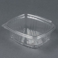 Genpak AD12 5 3/8 inch x 4 1/2 inch x 2 1/2 inch 12 oz. Clear Hinged Deli Container - 100 / Pack