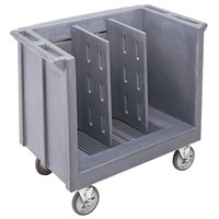 Cambro TDC30401 Slate Blue Adjustable Tray and Dish Cart with Vinyl Cover