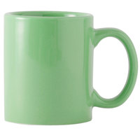 Tuxton BTM-1202 DuraTux Cilantro 12 oz. China C-Handle Mug - 24/Case