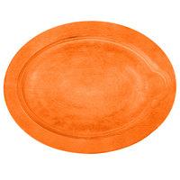 Lodge UOPB9 9 inch x 11 3/4 inch Tangerine Orange Oval Wood Underliner for Oval Serving Griddles