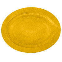 Lodge UOPB7 9 inch x 11 3/4 inch Lemon Yellow Oval Wood Underliner for Oval Serving Griddles