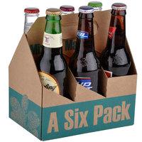 6 Pack Cardboard Beer Bottle Carrier   - 75/Case