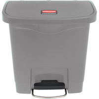 Rubbermaid 1883599 Slim Jim Resin Gray Front Step-On Trash Can - 16 Qt. / 4 Gallon