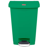 rubbermaid slim jim resin green front stepon trash can 13 gallon - 13 Gallon Trash Can