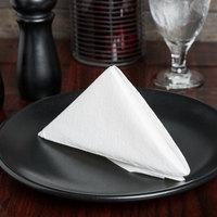 Choice White Linen-Feel 1/4 Fold Dinner Napkin - 50/Pack