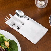 Choice ReadyNap 15 inch x 17 inch White Pocket Fold Dinner Napkin - 50/Pack