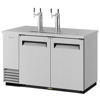 Turbo Air TBD-2SD (2) Double Tap Kegerator Beer Dispenser - Stainless Steel, (2) 1/2 Keg Capacity