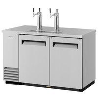 Turbo Air TBD-2SD (2) Double Tap Kegerator Beer Dispenser - Stainless Steel, (2) 1/2 Keg Capacity