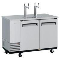 Turbo Air TBD-2SD-N6 (2) Double Tap Kegerator Beer Dispenser - Stainless Steel, (2) 1/2 Keg Capacity