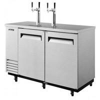 Turbo Air TBD-2SD 59 inch Super Deluxe Stainless Steel Beer Dispenser - 2 Kegs