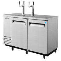 Turbo Air TBD-2SD 59 inch Super Deluxe Stainless Steel Beer Dispenser - 2 Kegs